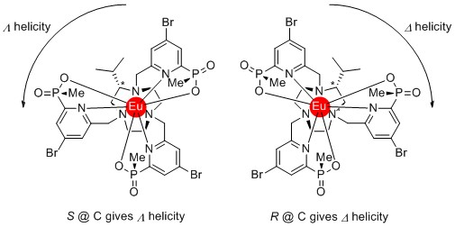 Enantiomers of lanthanide complex